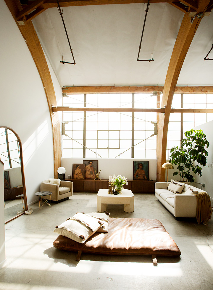 bright loft living room