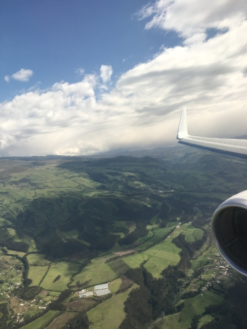 On approach to Quito, Ecuador