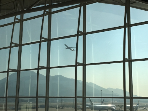 View from The Wing Lounge - Hong Kong's Chek Lap Kok Airport
