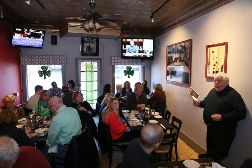 Special events to promote your brand.  - Tullamore D.E.W. hosted a whiskey tasting at Gunselman's and we provided a four course Irish meal for pairing.