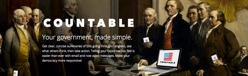 COUNTABLE  In episode 19, we mention this AWESOME app that helps you keep track of bills going through congress and let your reps know how you feel. Check it all the way out. Auto #adulting win for you!