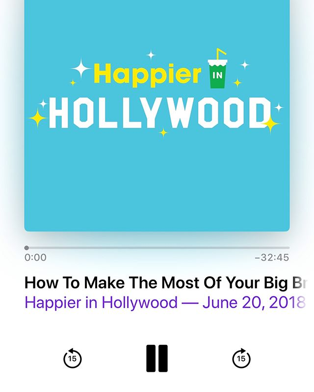 There's a familiar voice on #happierinhollywood today!!