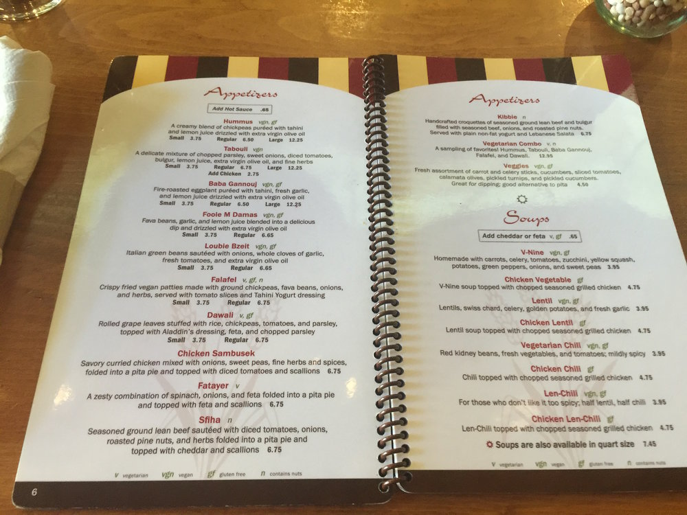 Aladdinu0027s Menu Has Everything You Could Wish For, And You Donu0027t Even Need A Magic  Lamp. For Starters, Start With Their Baba Gannouj, Which Is Bright And ...