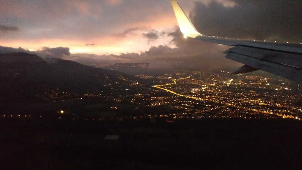 The view coming into Quito