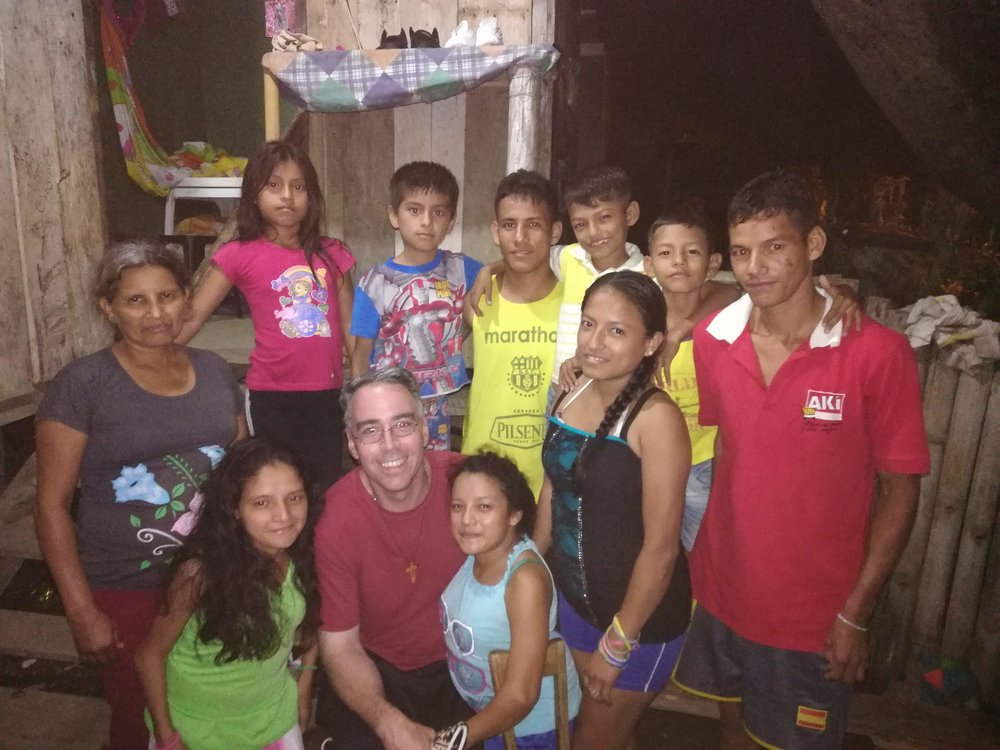 Sr Rosemary and I stopped by the Bazrurto family in Puerto Quito for a short visit. The sisters have a long relationship with the family, and I as well.