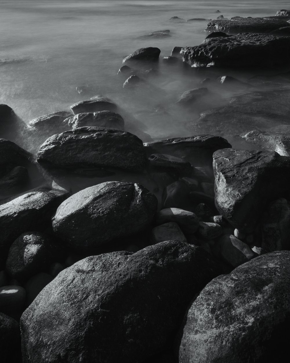 Long exposure, Early morning, southern corner of Bondi Beach.