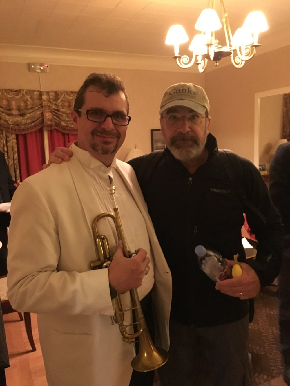 With Mandy Patinkin at Boston Pops