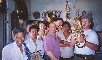 Atlantic Brass Quintet in Pakistan, 1995