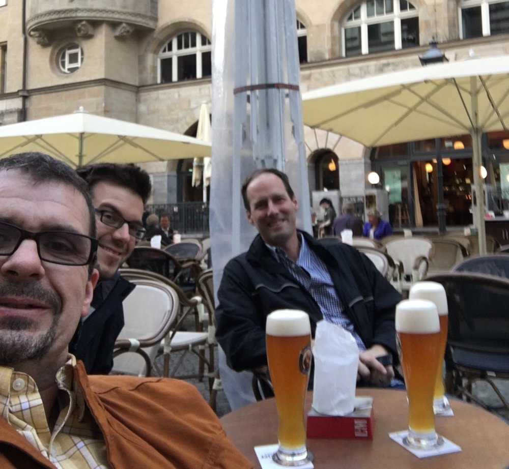 A night off with Tom Siders and Hans Morrison in Leipzig