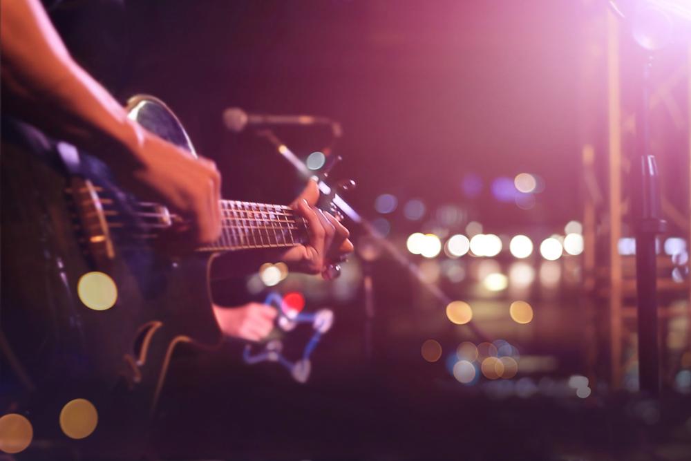 Guitar jam at Mode Red Studio