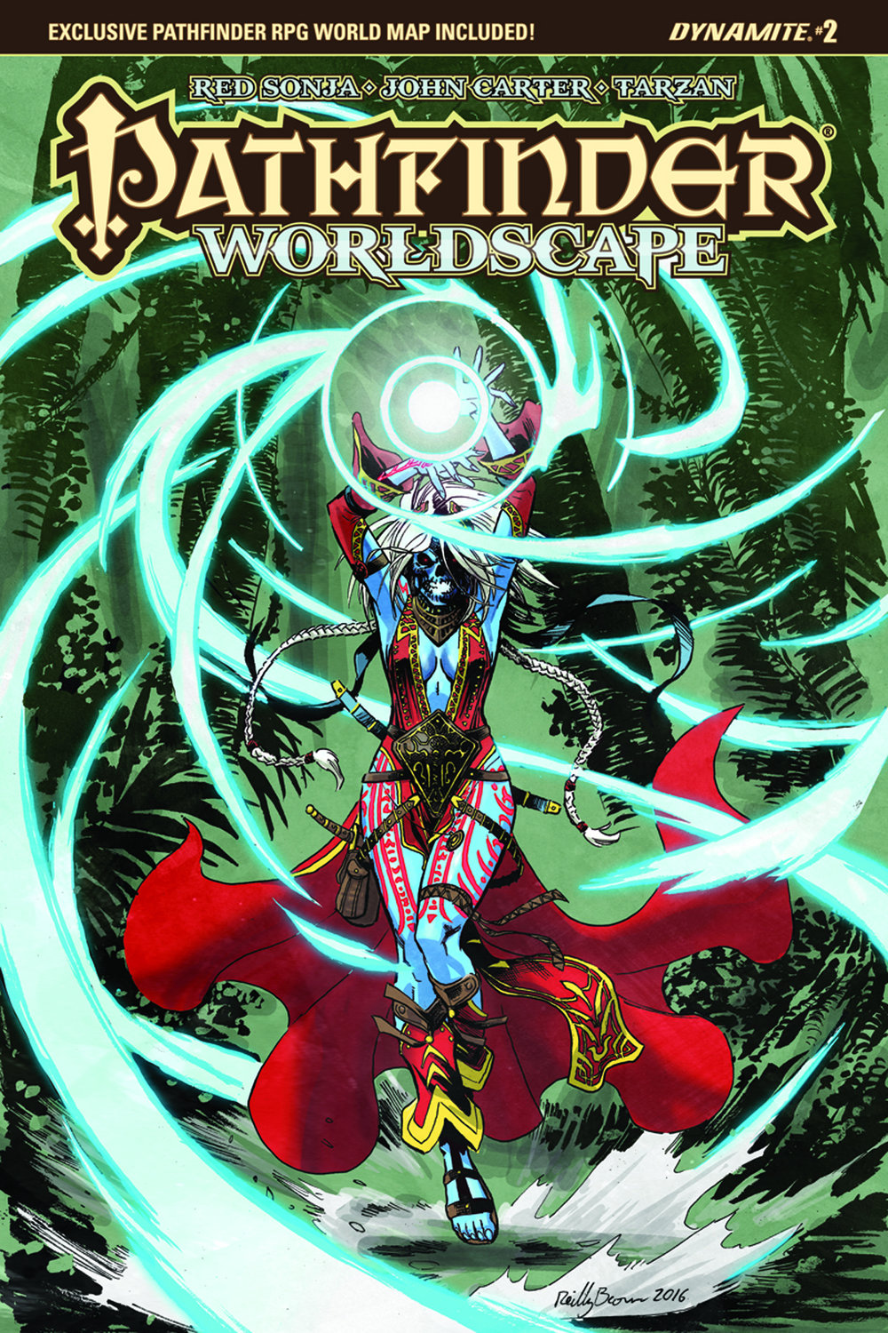 Pathfinder Worldscape #2, cover by Reilly Brown. (C) Dynamite Entertainment.