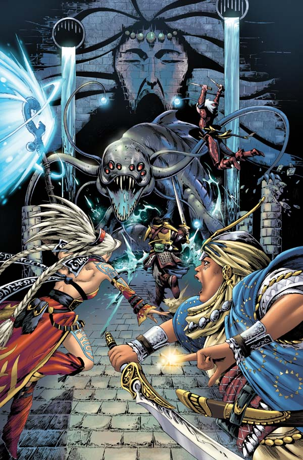 Pathfinder Worldscape #1 First Page, art by Jonathan Lau. (C) Paizo Inc.