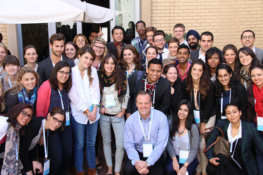 Astronaut Ron Garan with One Young World delegates