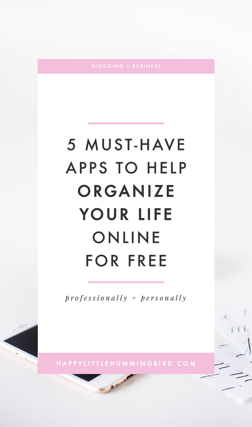 When we want to create room in our lives for new ideas and energy to flow we often think about organizing our physical space and tend to neglect our virtual space. In this post, I share 5 of my favourite apps that I use (on the regular) to help me organize my online life & biz.