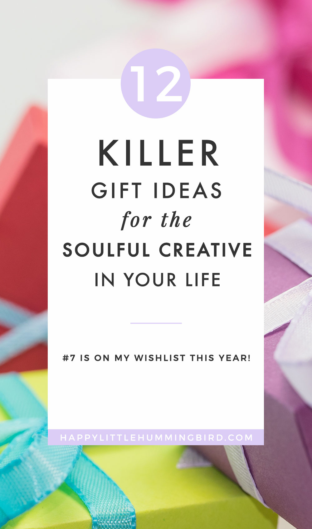Are you still trying to find the   perfect   gift for the creative soul-sister in your life? If you're tired of gifting generic fruity hand lotion each year, then check out my hand-picked gift guide to help you find a meaningful, KILLER gift that every creative soul-sister will LOVE!