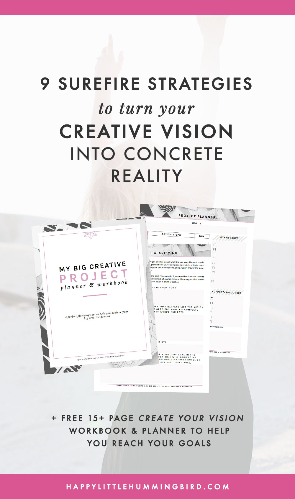 Do you have a desire to write, teach, paint, start a biz or ignite whatever creative spark is living inside you but can't seem to make your vision a reality? Learn 9 surefire strategies to help you reach your goals—things that stand between those who reach their dreams and those who want to but don't.