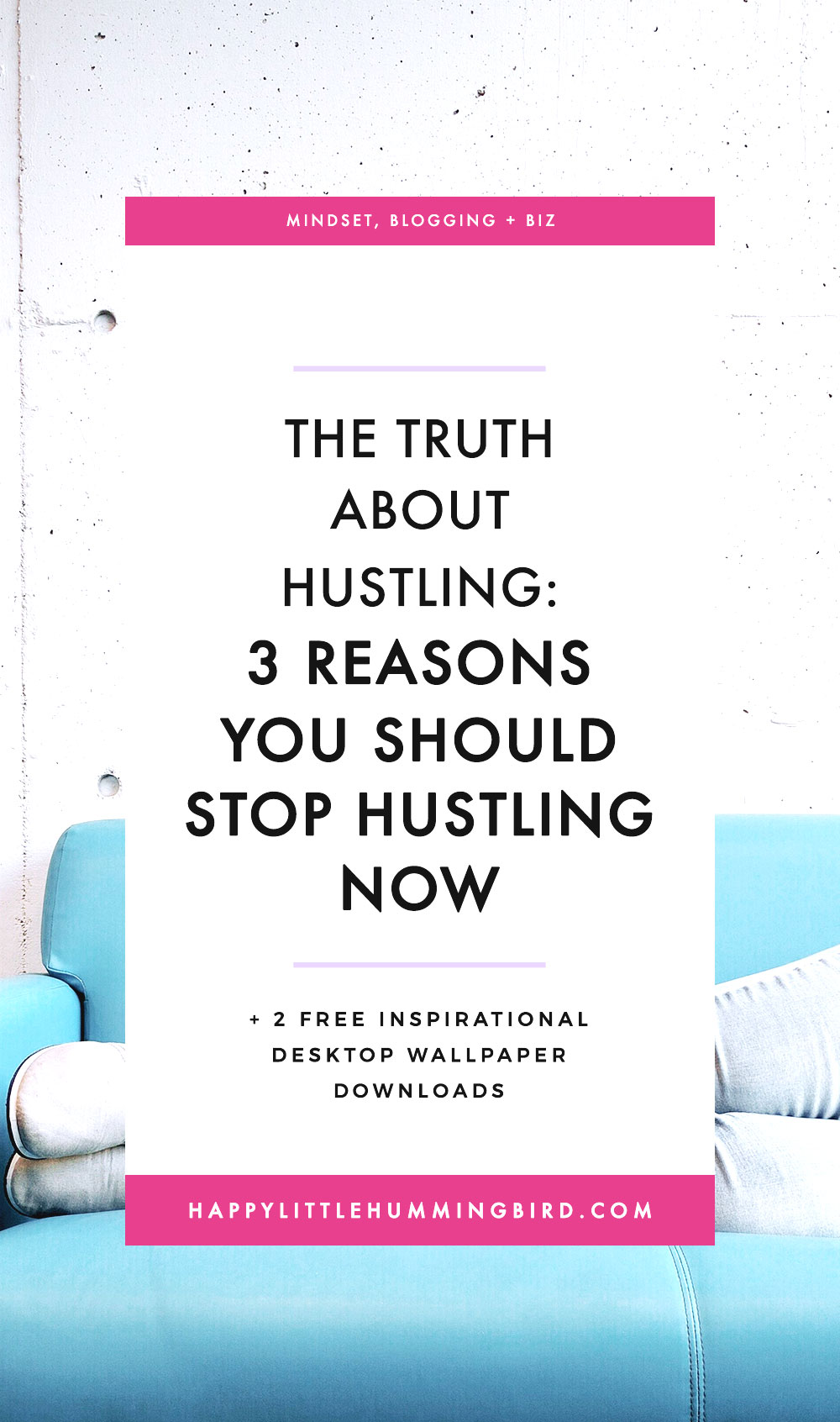 "Do you feel uninspired, demotivated and totally burnt out by the heart-based biz that was supposed to stop you from running in circles? If so, you've probably been following the advice ""you've got to hustle to make your dreams happen"". In this post, I share 3 reasons why I think hustling is limiting you from reaching your full potential."
