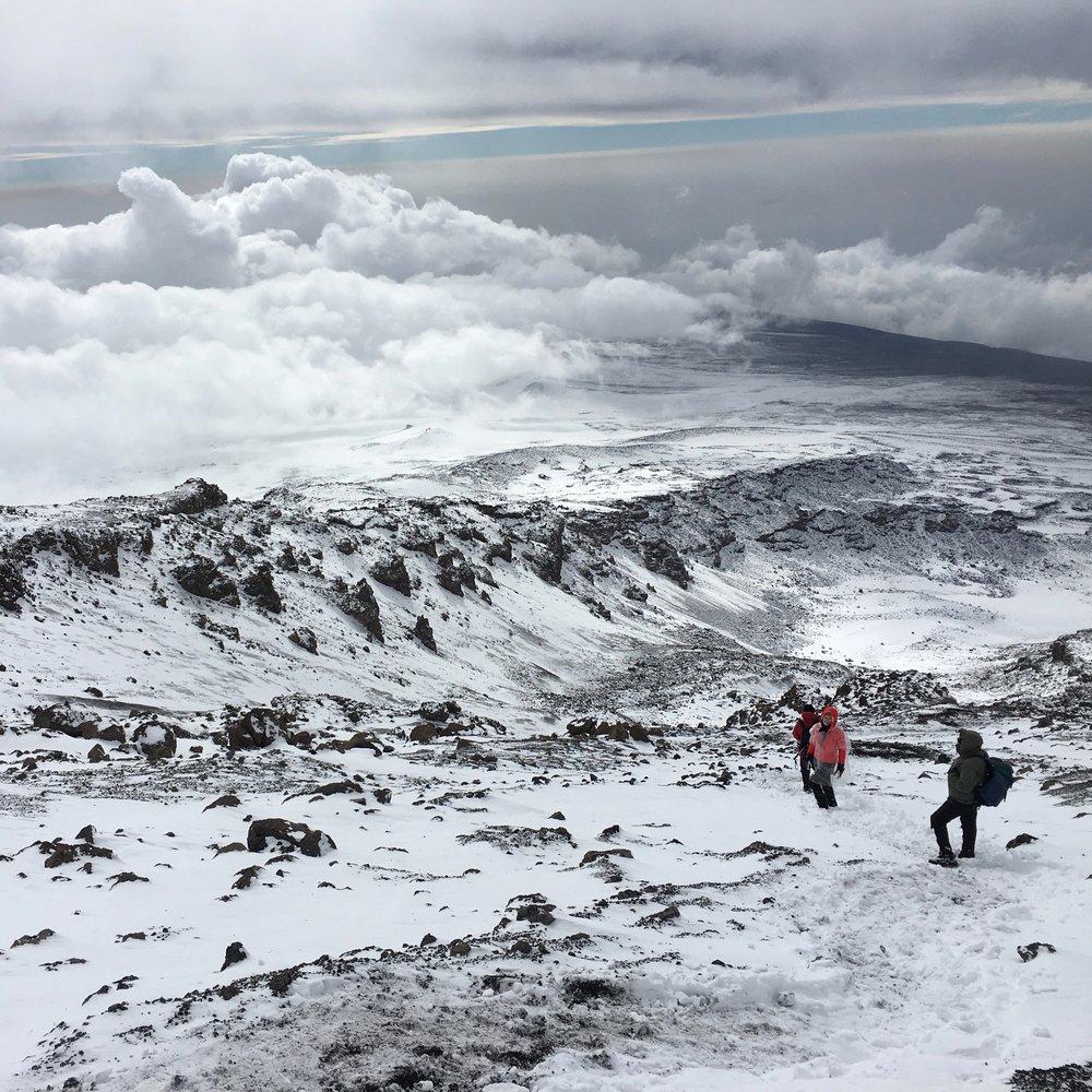 Kilimanjaro at 18,000 feet