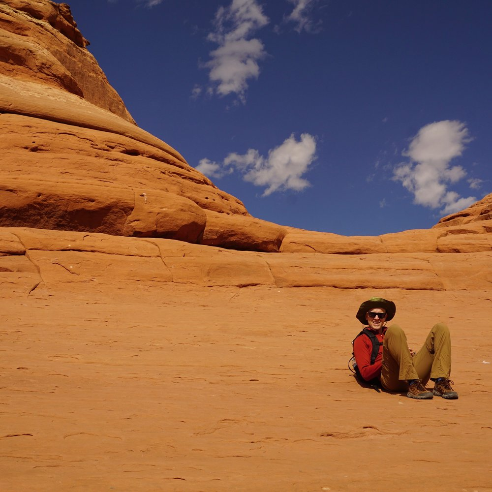 Taking it all in at Delicate Arch