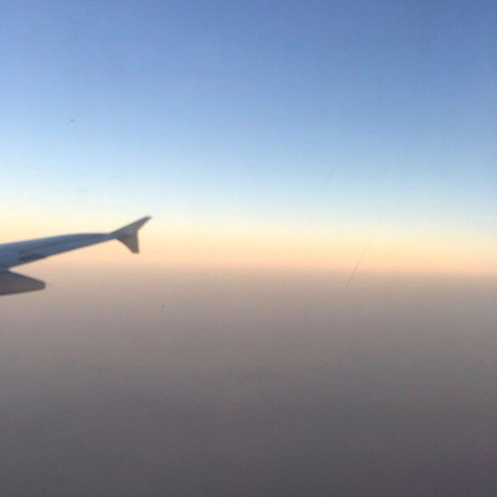 Flight into Beijing