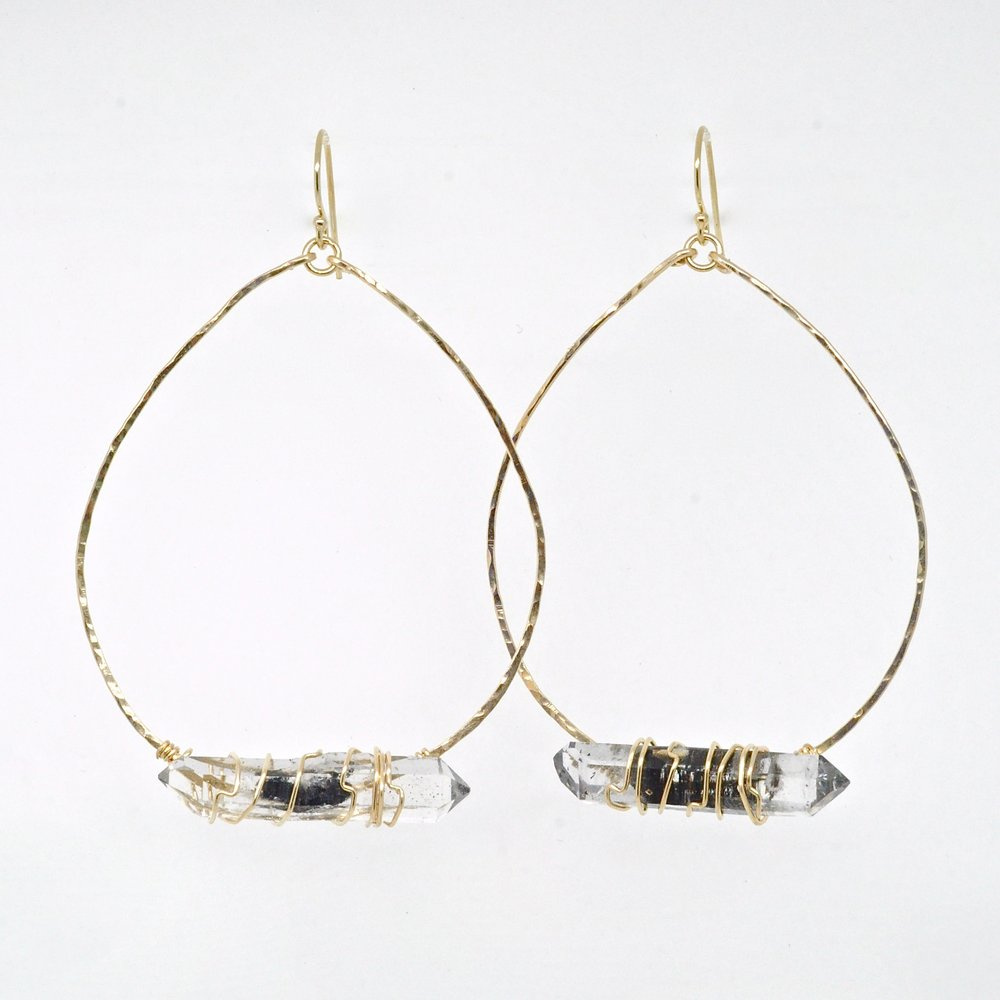 high preistess hoop earrings - 14K gold filled, skullptress, gypsy, bohemian, handmade