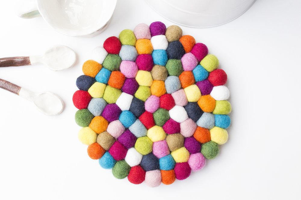 Multicolor Felt Ball Trivet_3.jpg