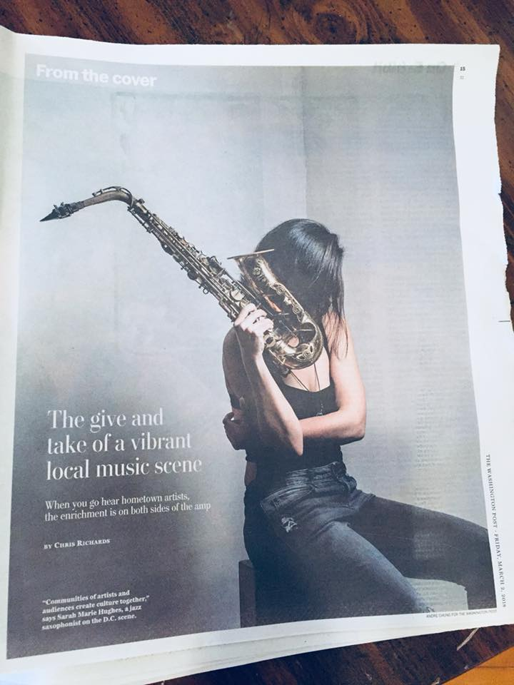 - Inside cover of the Washington Post. Check out what I have to say about the role of local musicians in our communities.
