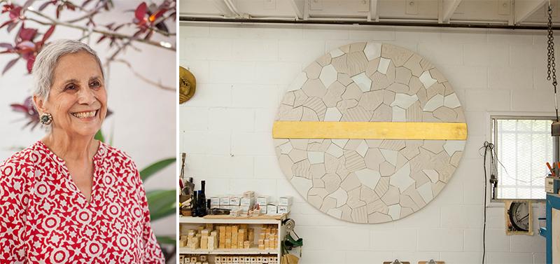 Dora De Larios en su estudio de Culver City (Fotos de Christopher Sullivan)