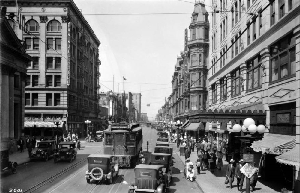 Main St. in downtown Los Angeles, 1924, courtesy of LAPL