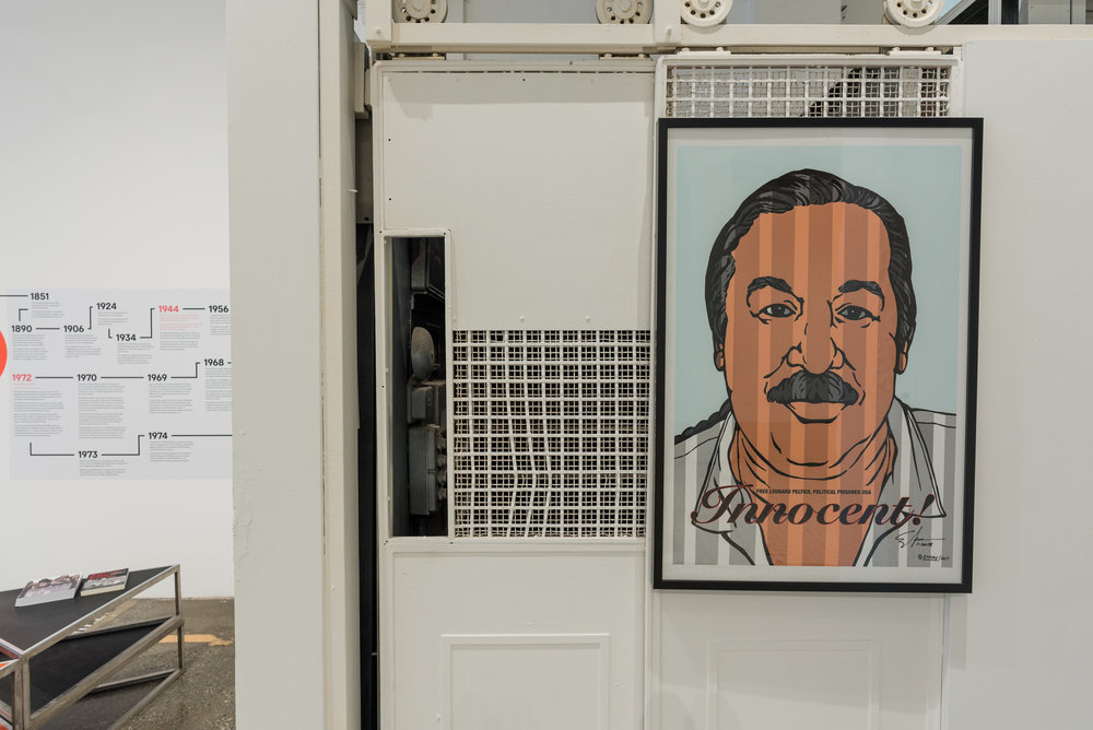 Innocent!  graphic by Emory Douglas on view as part of  Rigo 23: Ripples Become Waves  at Beta Main.