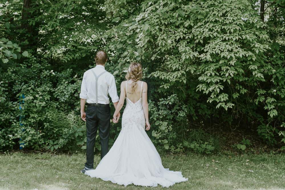 Pearl beaded wedding dress styled shoot Ontario Canada