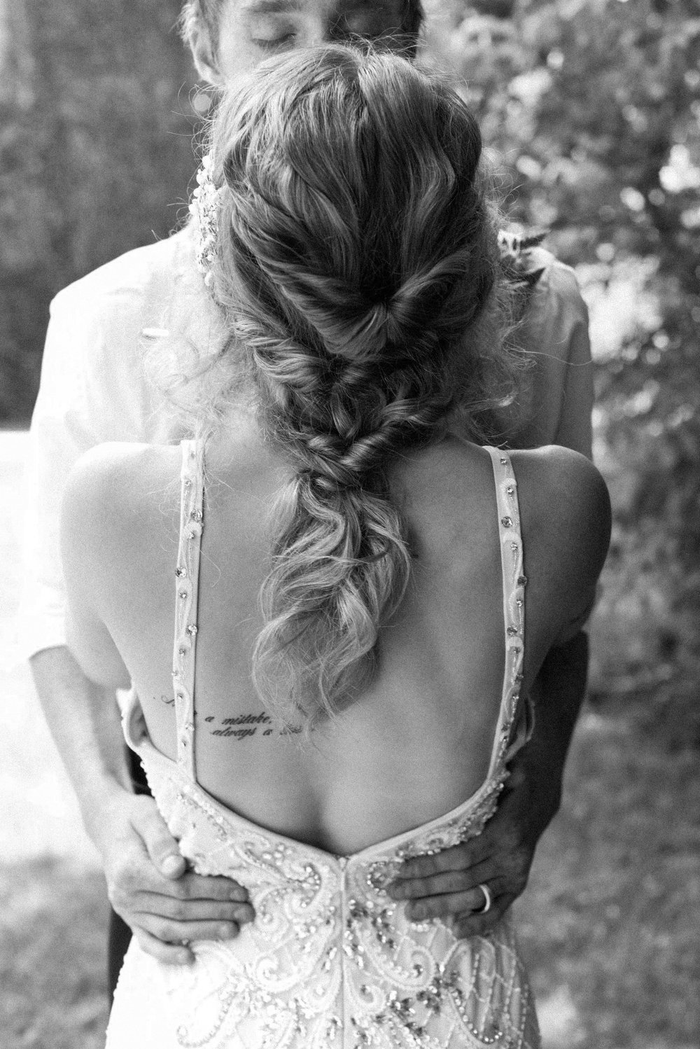 Bridal braid at pearls and ivy styled shoot in Ontario Canada