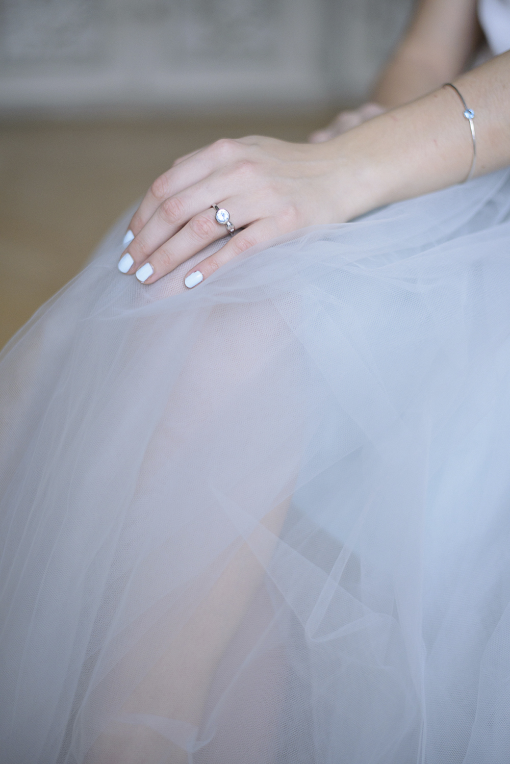 Bride with baby blue tulle skirt wedding inspiration at Schloss Laudon Vienna Austria by Barbara Wenz Photography