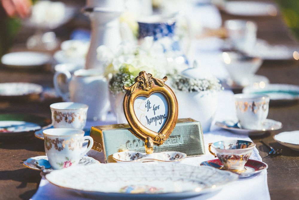 Alice in Wonderland themed same sex wedding styled shoot LGBT Graz Styria Austria tea party wedding table