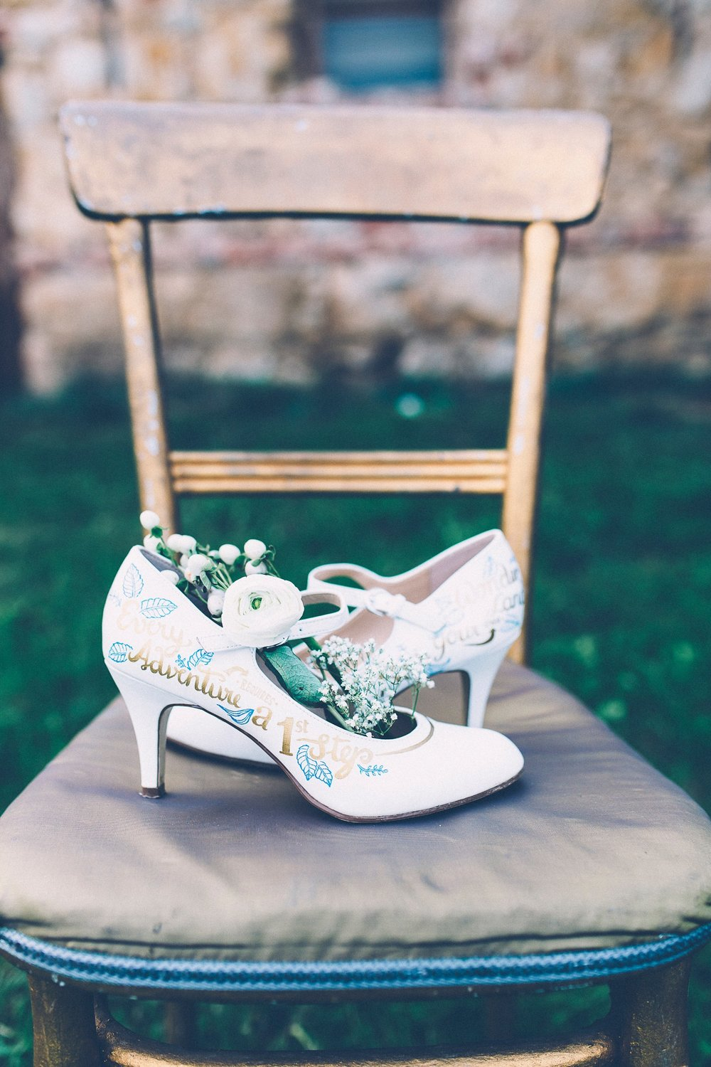 Alice in Wonderland themed same sex wedding styled shoot LGBT Graz Styria Austria painted wedding shoes Painted Love
