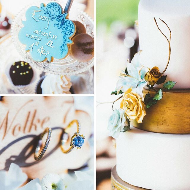 Blue & gold palette inspiration from our latest feature 💝  Planning @weddingagencyat⠀ Photo kanizaj-marija.com⠀ Video nihilo.at⠀ Design @sensual_weddings⠀ Venue @ranningeramgrottenhof⠀ Celebrant @herzenswortezeremonien⠀ Florals @blumenengele ⠀ Sweet Tables @dastortenatelier @bettysbakeryms ⠀ Prints kiris-artworks.com ⠀ Bridal dresses @kuessdiebraut @brautgefluester⠀ Painted shoes @paintedlovefriends ⠀ Jewelry @feinheit_jewelry ⠀ Headpiece & jewelry @lunamillerjewelry⠀ Hair Stefan Krar @cht_graz_arno_stefan⠀ Make-up @die_puderei⠀ .⠀ .⠀ .⠀ #aliceinwonderland #wunderland #gatewaytowonderland  #styledshoot #bridalinspiration #wedding #weddingdesign #blue #gold #cheshirecat #paintedshoes #bemalteschuhe #weddingblog #weddingplannerblogger #bridalinspiration #weddingaustria #graz #steiermark #styria #samesexwedding #twobrides #twogirlsgettingmarried #symbolicceremony #weddingblog #hochzeitsblog #TheBeautyChaser #forsparklingeyesandmeltinghearts #bluegoldpalette #bluegoldweddingcake #engagementring #cakepops