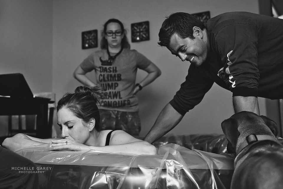 Denver Birth Photographer : Home Birth : Water Birth : Labor Support