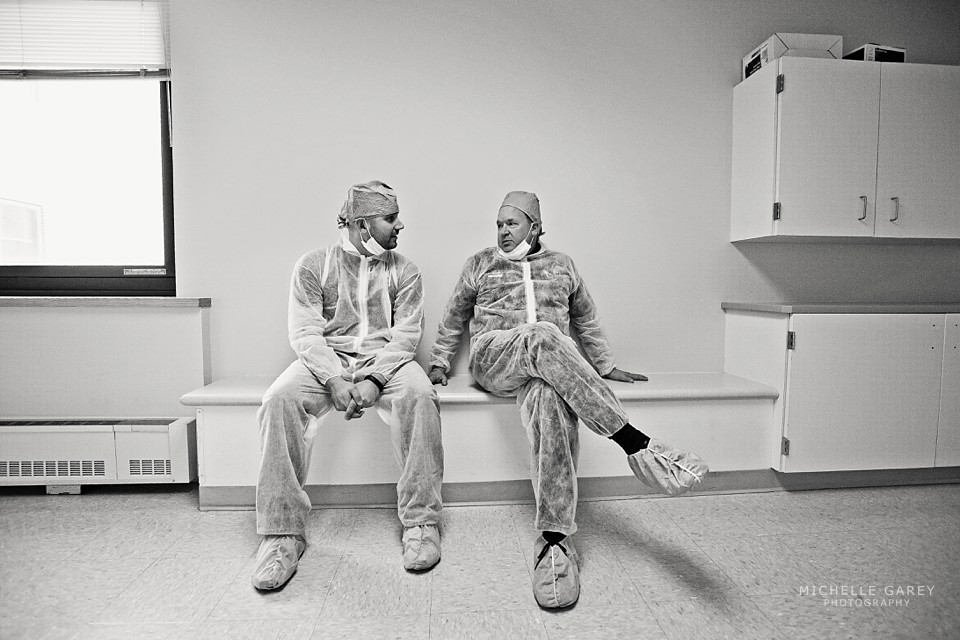 Dad and Grandpa waiting to be invited into the OR