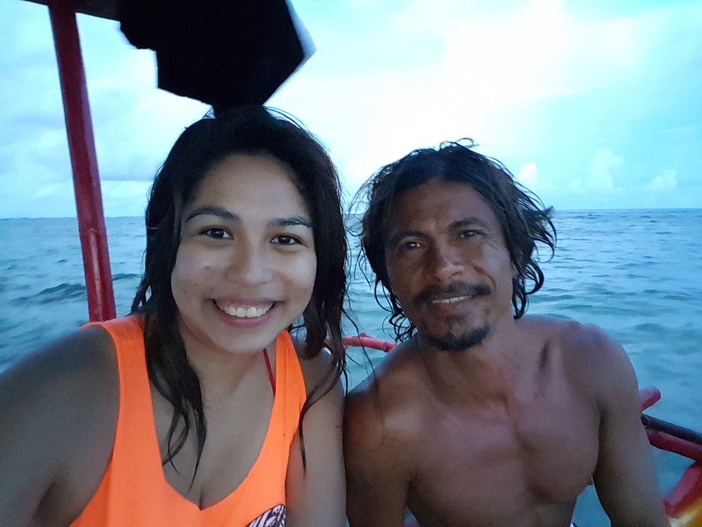 The first day in Siargao was already worth it because I 'bumped into' Manuel Melindo, one of Siargao's pride. Oh, I also follow him on Instagram and I'm fangirling right here. Sorry, couldn't help it.