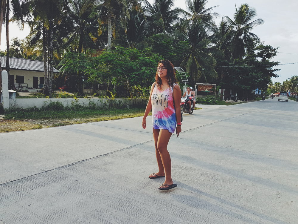 Wandering aimlessly on Siargao Island's only highway. Photo by Sandra Palileo