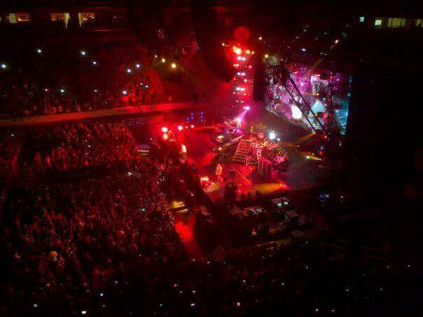 The only photo I have left of my first Linkin Park concert last August 2013.