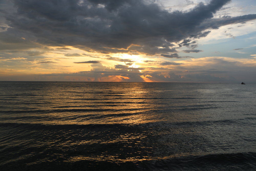 Dipolog's Sunset Boulevard is aptly named as one can view a breathtaking sunset even on a cloudy day such as this.