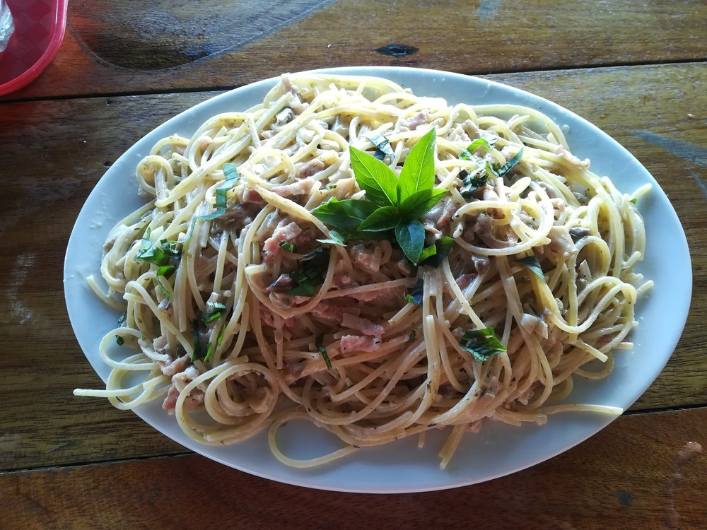 Babak Bungalow's carbonara is a must try
