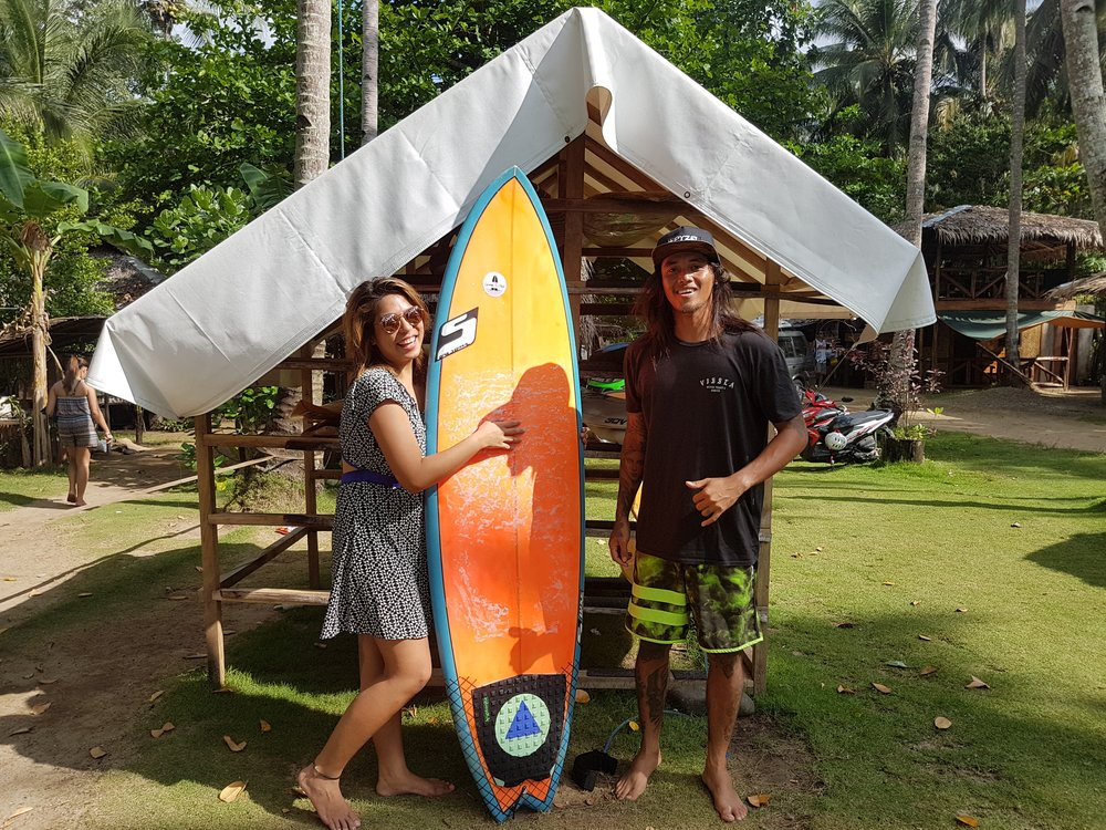 The first time I rode a somewhat shortboard in ages!