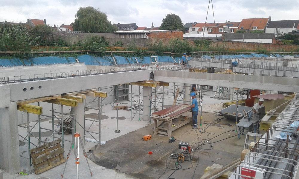 realisatie voor vandenbussche nv betonkolommen, -balken en -wanden