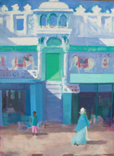 Threlfall, Street, Cochin, oil on canvas 122 x 96 cm.jpg