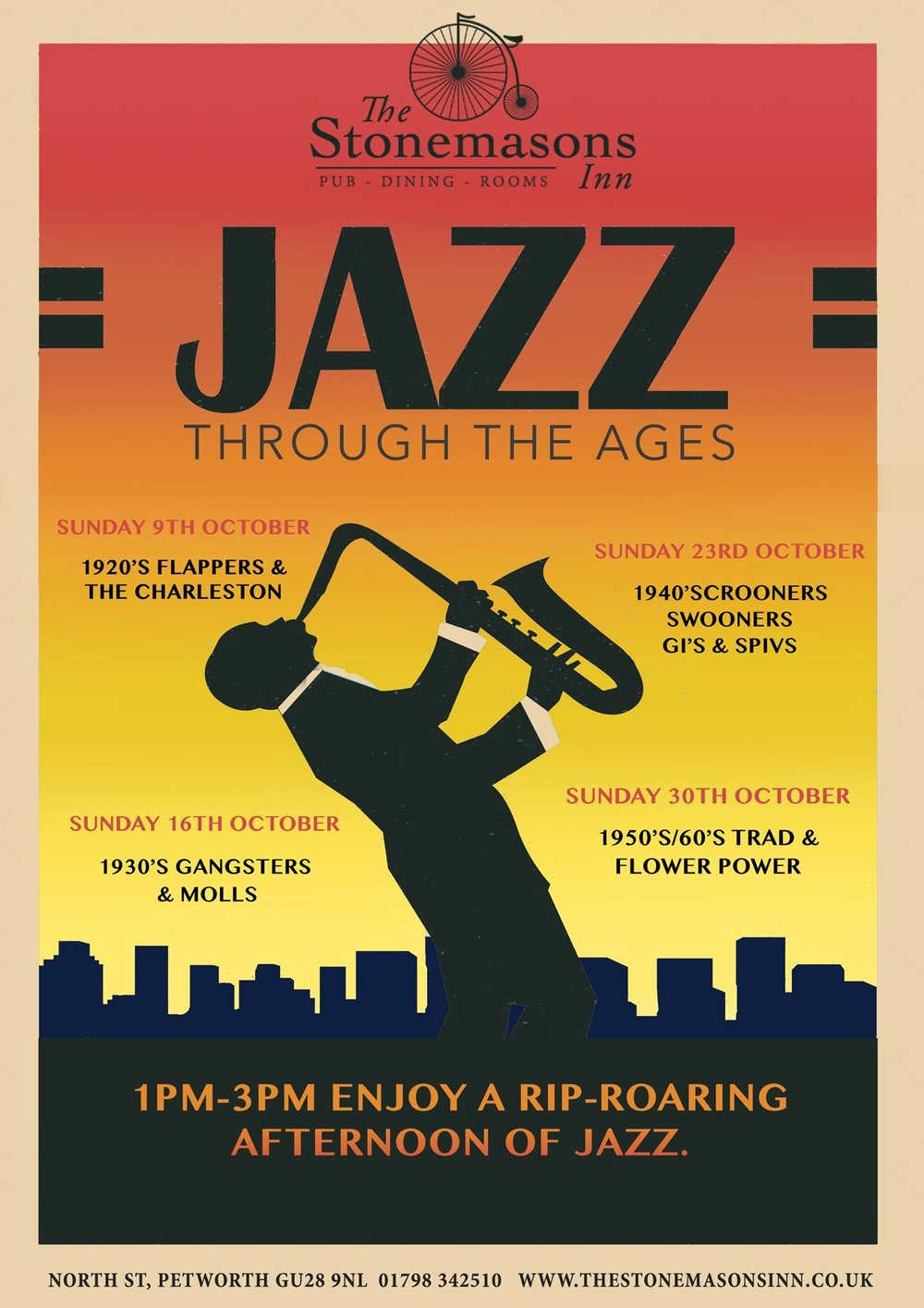 Jazz Afternoon at The Stonemasons Inn