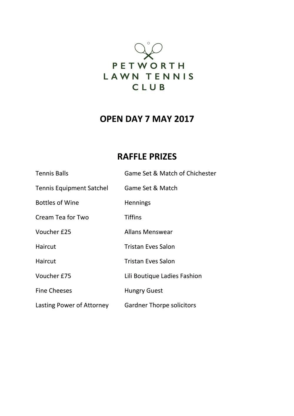 Open Day 2017 Raffle Prizes.jpg