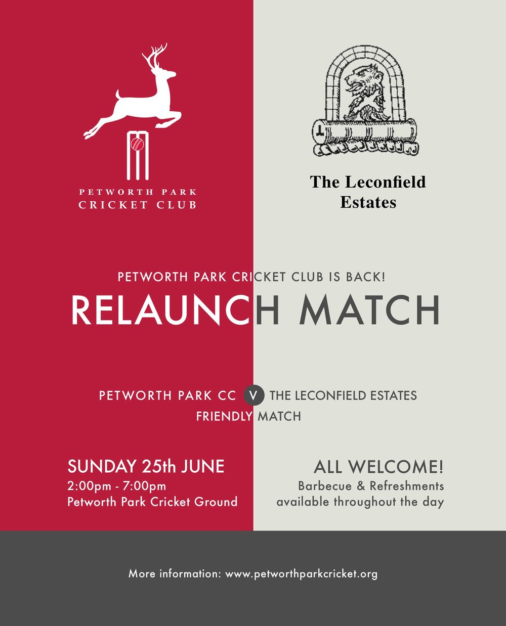 Relaunch Match - Petworth Park CC v The Leconfield Estates