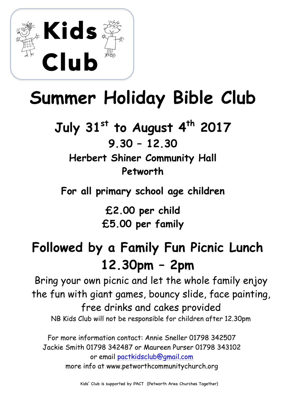 Summer Holiday Bible Club